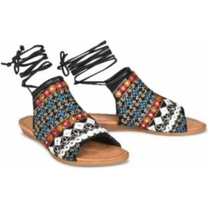 Sociology | Asia Ankle-Wrap Sandals | NEW